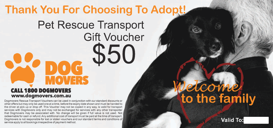 Pet Rescue Transport voucher